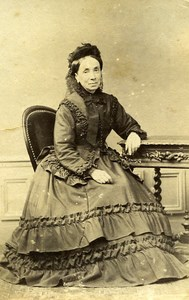 Madame Radot Portrait Meudon France Old Photo Delaporte 1875