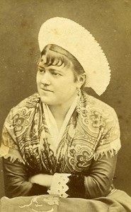 Humoristic Portrait Woman Meudon France Old Photo Delaporte 1875