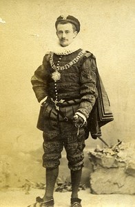 Humoristic Portrait Man Meudon France Old Photo Delaporte 1875