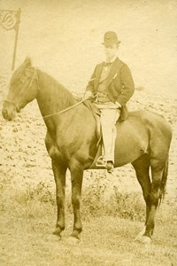 Horseman Portrait Meudon France Old Photo Delaporte 1875