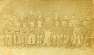 Ozanam School Group Portrait France Lille Old CDV Photo 1863