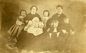 Family Group Portrait France Old CDV Photo 1860