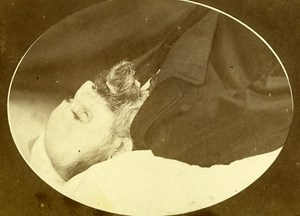 Man France Agen Old CDV Milet Photo Post Mortem 1870