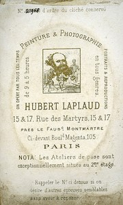 Humorous Portrait Photographer Laplaud Paris France Old CDV Photo 1875