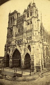 80000 Amiens Cathedral France Old Photo CDV Kaltenbacher 1875