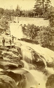 73000 Aix les Bains Falls France Old Photo CDV Demay 1875