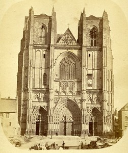 44000 Nantes Cathedrale France Old Photo CDV Tresorier 1875
