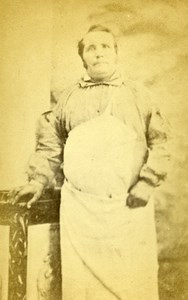 Man Parisian Butcher France Old Photo CDV Carey 1870