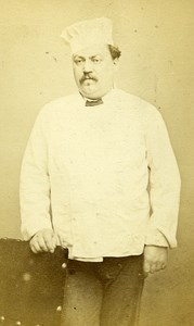 Man Parisian Cook France Old Photo CDV Carey 1870