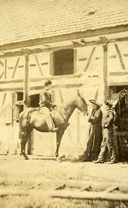 Horse Daily Life in Alsace France Old Photo CDV Charles Lallemand 1865