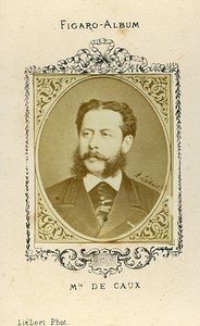Marquis de Caux Portrait Paris France Figaro album Old CDV Photo 1870