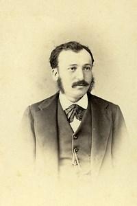 Vicomte Joseph de Broves Portrait Alger Old CDV Photo Geiser 1870