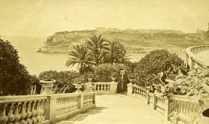 Monte Carlo Casino Gardens France Old CDV Photo ca 1890