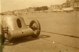 Sand Race Car France Berck sur Mer 62600 France old Snapshot Photo 1930
