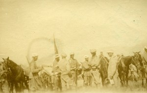 Morocco Rif War Saf Camp Spanish Soldiers Old Snapshot Photo 1925