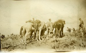 Morocco Rif War Saf Camp Spanih Soldiers Old Snapshot Photo 1925