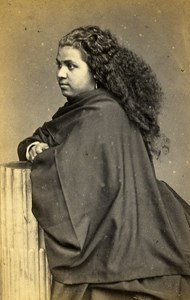 Peru Lima Portrait Study Woman Old CDV Photo Courret Hermanos c1860