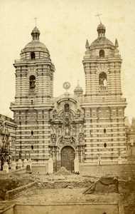 Peru Lima San Francisco Church Old CDV Photo Courret Hermanos c1860