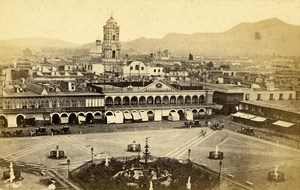Peru Lima Public Square & Tower St Domingo Old CDV Photo Courret Hermanos c1860