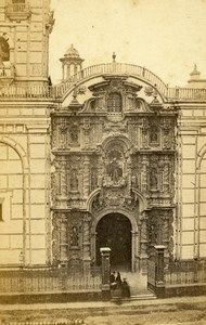 Peru Lima Church Old CDV Photo Courret Hermanos c1860