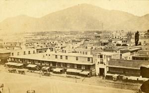 Peru Lima Public Square & Government Palace Old CDV Photo Courret Hermanos c1860