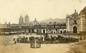 Peru Lima Convent of San Francisco Old CDV Photo Courret Hermanos c1860