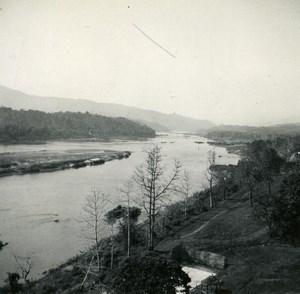 Indochina Laos Vientiane River View old Amateur Snapshot Photo 1930
