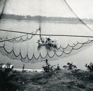 Indochina Laos Vientiane River Seaplane old Amateur Snapshot Photo 1930