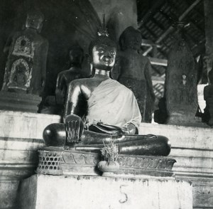 Indochina Laos Vientiane Pagode Boudha old Amateur Snapshot Photo 1930