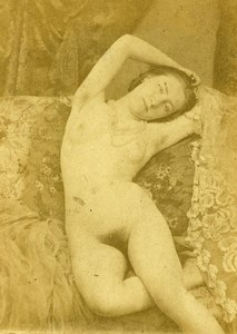 France Paris Second Empire Nude Cocodette Model Old CDV Photo 1865