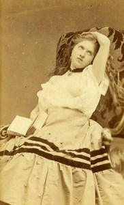 France Paris Second Empire Semi Nude Cocodette Ecstasy Old CDV Photo 1865