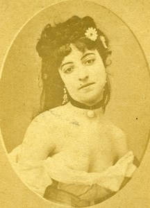 France Paris Second Empire Semi Nude Low Necked Old CDV Photo 1865