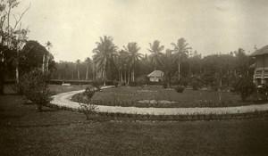 Indonesia Sumatra East Coast Rubber Estate Bungalow Old Photo 1930