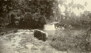 Indonesia Sumatra East Coast Floads Bridge Broken Old Photo 1930