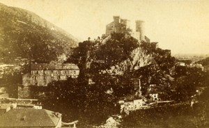 France Foix Castle Panorama Old Monier CDV Photo 1880