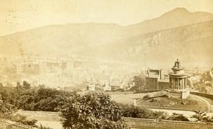 United Kingdom Edinburgh Panorama Old Burns CDV Photo 1860