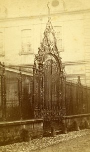 France Troyes Hospital railing Old Lancelot CDV Photo 1880