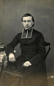 France Saint Omer Christian Religion Priest Old CDV Photo Belle 1870