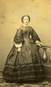 France Lille Woman Fashion Second Empire Old CDV Carette Photo 1870