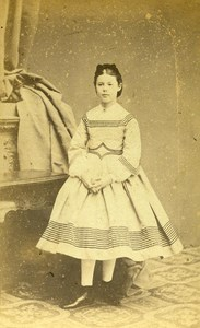 France Lille Girl Fashion Second Empire Old CDV Carette Photo 1870