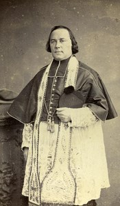 France Lille Priest Fashion Second Empire Old CDV Carette Photo 1870
