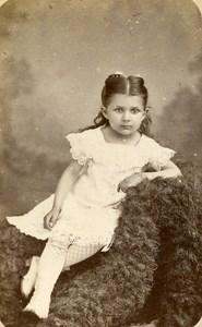 France Lille Girl Fashion Second Empire Old CDV Carette Photo 1870