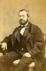 France Lyon Man J de Moncault Second Empire Place Old CDV Victoire Photo 1870