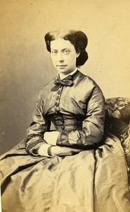 France Beauvais Woman Fashion Second Empire Old CDV Herbert Photo 1870
