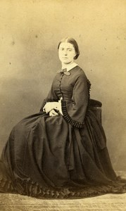 France Paris Woman Fashion Second Empire Old CDV Pesme Photo 1870