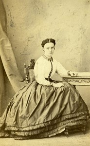 France Paris Woman Camille de Souto Second Empire Old CDV Alophe Photo 1870