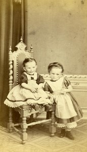 Czech Fulnek Children Fashion Old CDV Thiry Photo 1870