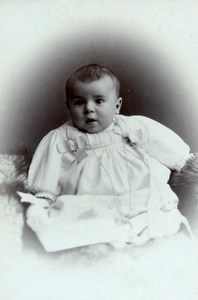 Latvia Riga Child Baby Old CDV Eggert Photo 1870