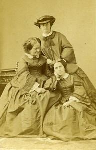 France Paris Countess of Graney & Daughters Old CDV Disderi Photo 1865
