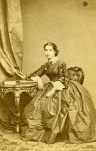 France Paris Actress Miss Victorine Old CDV Plumier Photo 1865